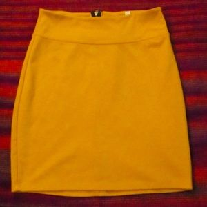 Urban Outfitters Silence + Noise Yellow Skirt